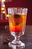 Tea with oranges and star anise