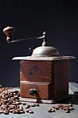 An old mechanical coffee mill