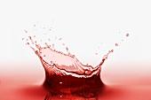 A splash of red juice