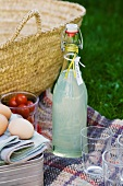 Picnic with home-made lemonade