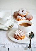 Strauben (fried pastries) and coffee