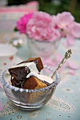 Sticky toffee pudding with caramel sauce (England)