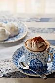 Caffè Montebianco (coffee topped with meringue, Italy)