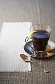 Café brulot (coffee with Cognac and orange liqueur, France)