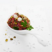 Beef tartare with pistachios