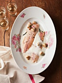 Trout fillet with foamy Riesling sauce