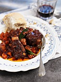 Oxtail braised in red wine