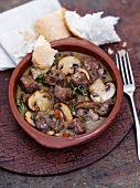 Wild boar ragout with porcini mushrooms