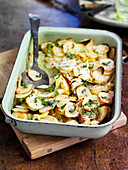 Potato bake with sherry