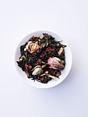 Fruit tea blend (green tea, rose, raspberry)