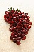 Lots of cranberries, fresh and dried