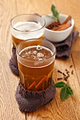 Hot spiced beer