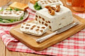 Ricotta and Roquefort terrine with dried figs