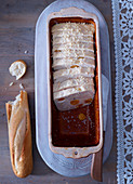 Chicken terrine with physalis and sesame seeds