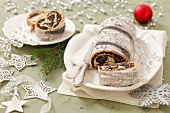 Poppy seed roulade for Christmas