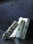 Torrone with pistachios and almonds