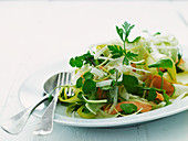 Courgette and carrot salad