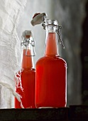 Lingon berry juice in flip-top bottles