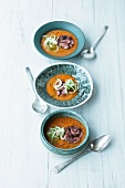 Tomato soup with fennel and pulpo aspic