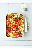 Maccaroni and tomato bake