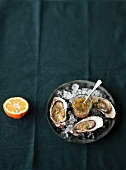 Fresh oysters with a bitter orange vinaigrette