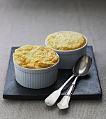 Two vegetable souffles