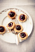 Macadamia nut biscuits with amarena cherries