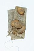 Potatoes on a sack