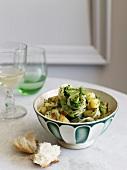 Pasta ai broccoletti (pasta with potatoes and broccoli)