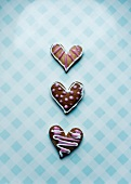 Decorated Christmas hearts