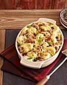 Tortellini mushroom bake