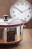 A slow cooker (a.k.a. crockpot)