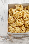 A box of tagliatelle