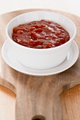 A bowl of barbecue sauce