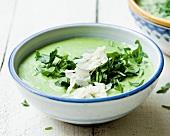 Rocket soup with Parmesan