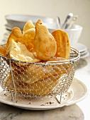 Hojuelas (fried Spanish pastries)