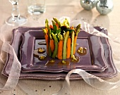 Carrot and asparagus timbale (Christmas)