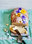 Easter bread with butter