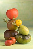 A stack of tomatoes