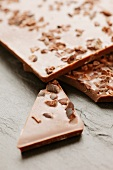 Chocolate topped with cocoa brittle