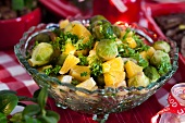 Brussels sprouts salad with oranges for Christmas