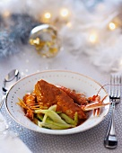 Chicken and scampi with celery (Christmas)
