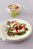 Beetroot salad with pears and quark for Easter
