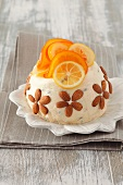 Pascha with candied oranges and lemons
