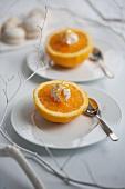 Oranges with orange cream