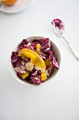 Radiccio salad with oranges and macadamia nuts