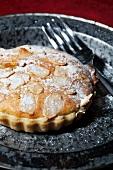An almond tartlet