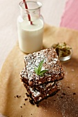 Marijuana Brownies with a Glass of Milk