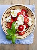 Pomodori con la mozzarella (tomatoes with mozzarella, Italy)