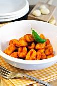 Fresh gnocchi with tomato sauce
